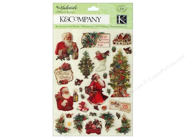 K&Company Stickers Clearly Yours Yuletide Icons
