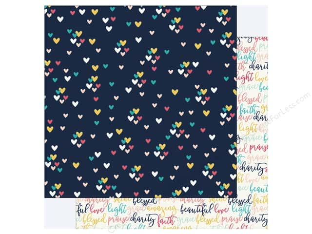 "Simple Stories Collection Faith Paper 12""x 12"" Love (25 pieces)"