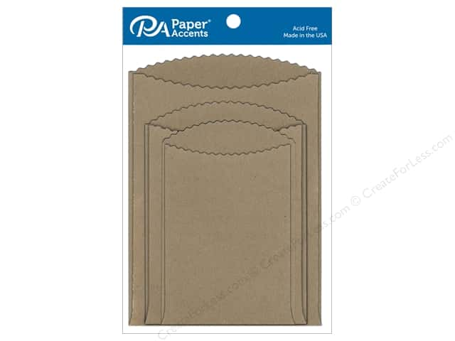 Paper Accents Pocket Assorted Sizes Brown Bag 8 pc.