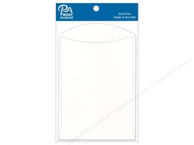 Paper Accents Pocket 3 1/2 x 5 in. White 10 pc.