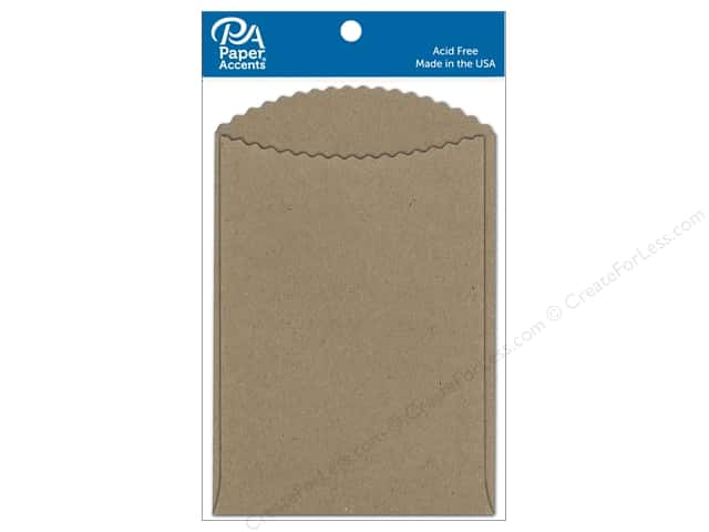 Paper Accents Pocket 3 1/2 x 5 in. Brown Bag 10 pc.