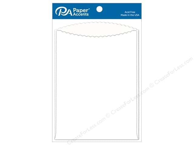 Paper Accents Pocket 5 x 7 in. White 8 pc.