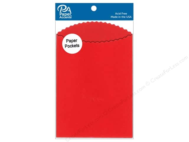 Paper Accents Pocket 3 1/2 x 5 in. Red 10 pc.