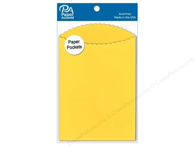 Paper Accents Pocket 3 1/2 x 5 in. Canary Yellow 10 pc.