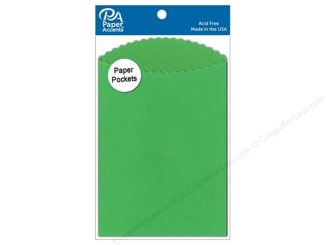 Paper Accents Pocket 3 1/2 x 5 in. Green Grass 10 pc.