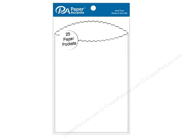 Paper Accents Pocket  3 1/2 x 5 in. White 25 pc.