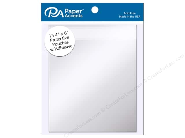 Paper Accents Protective Pouch with Adhesive 4 x 6 in. Clear 15 pc.