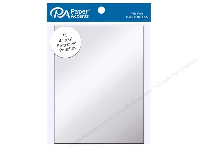Paper Accents Protective Pouch 4 x 6 in. Clear 15 pc.