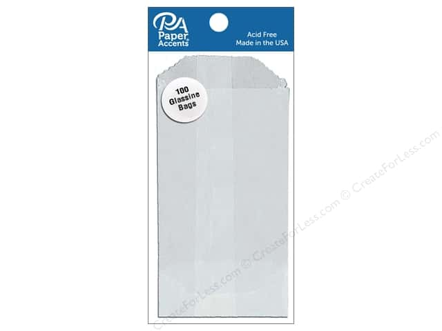 Paper Accents Bags 2 x 3 1/2 in. Glassine 100 pc.