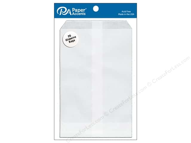 Paper Accents Bags 4 1/2 x 6 3/4 in. Glassine 25 pc.