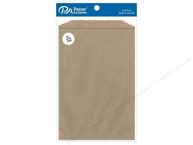Paper Accents Bags 6 x 9 3/4 in. Kraft 25 pc.