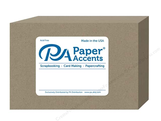 Paper Accents Post Cards 4 1/4 x 5 1/2 in. Blank 100 pc. Brown Bag