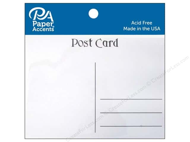 Paper Accents Post Cards 4 1/4 x 5 1/2 in. White 25 pc.