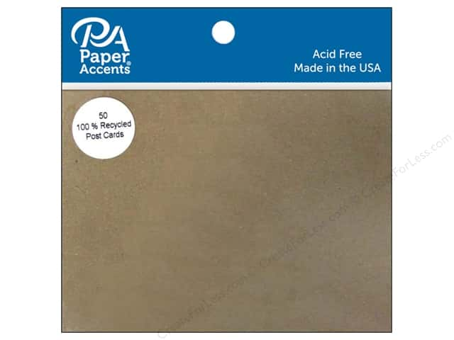 Paper Accents Post Cards 4 1/4 x 5 1/2 in. Blank 50 pc. Brown Bag