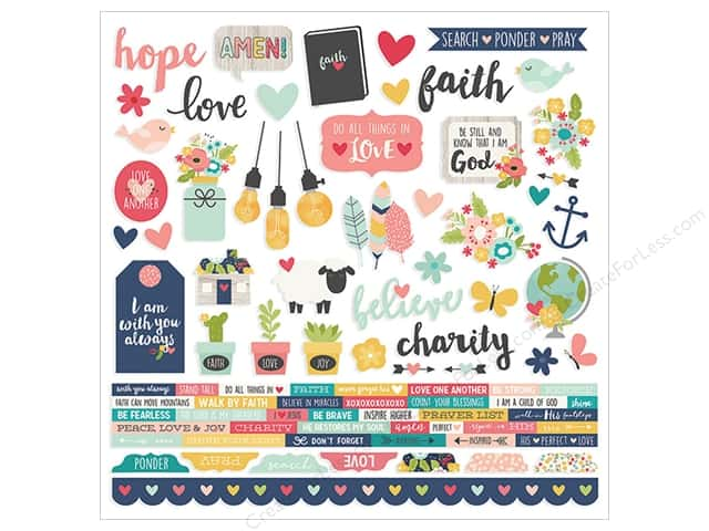 Simple Stories Collection Faith Sticker Combo 12 in. x 12 in. (12 pieces)