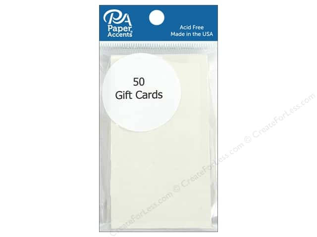 Paper Accent Gift Cards 2 x 3 1/2 in. Cream 50 pc.