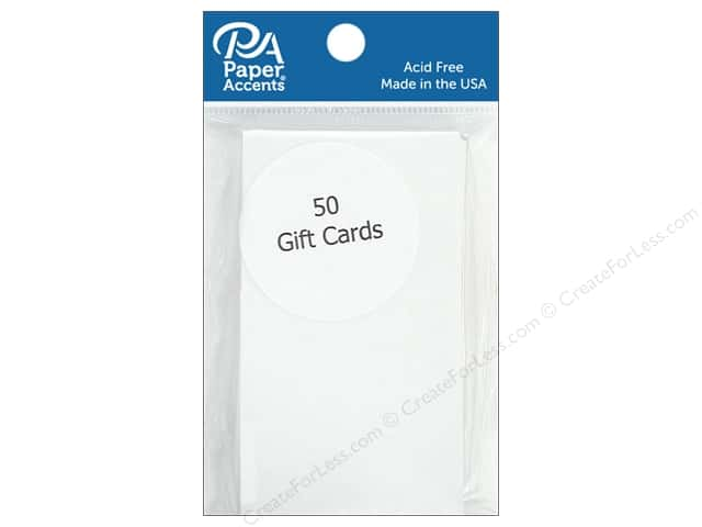 Paper Accent Gift Cards 2 x 3 1/2 in. White 50 pc.
