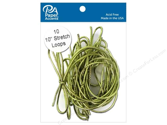 Paper Accents Stretch Loops 10 in. Metallic Gold 10 pc.