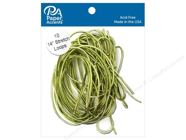Paper Accents Stretch Loops 14 in. Metallic Gold 10 pc.