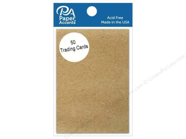 Paper Accent Trading Cards 2 1/2 x 3 1/2 in. Brown Bag 50 pc.