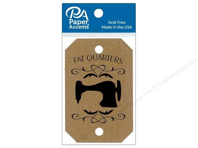 Paper Accents Craft Tags 2 1/8 x 3 1/4 in. 25 pc. Fat Quarters Brown Bag