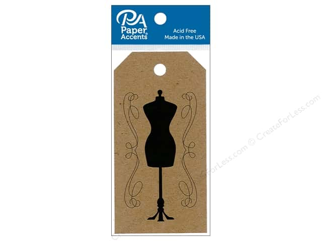 Paper Accents Craft Tags 2 x 3 3/4 in. 25 pc. Dress Form Brown Bag