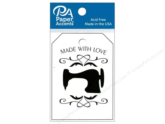 Paper Accents Craft Tags 2 1/8 x 3 in. 25 pc. Sewing Machine Birch