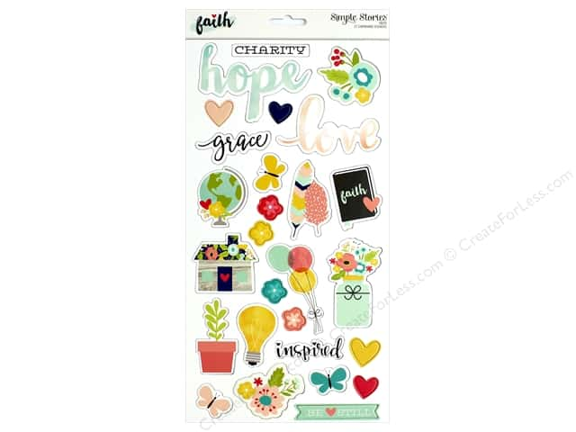 """Simple Stories Collection Faith Chipboard 6""""x 12"""""""