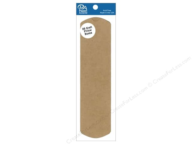 Paper Accents Pillow Box 2 x 3/4 x 7 in. 25 pc. Kraft