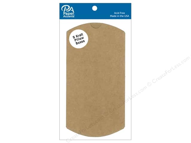 Paper Accents Pillow Box 3 x 1 x 5 in. 5 pc. Kraft