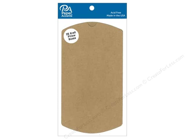 Paper Accents Pillow Box 4 x 1 1/8 x 6 in. 25 pc. Kraft