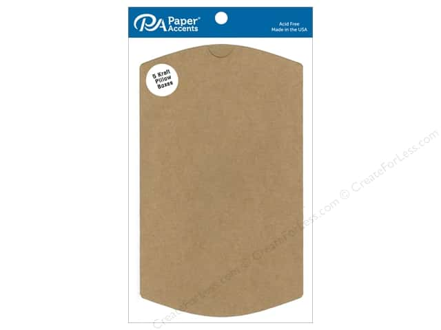 Paper Accents Pillow Box 5 x 1 1/4 x 7 in. 5 pc. Kraft