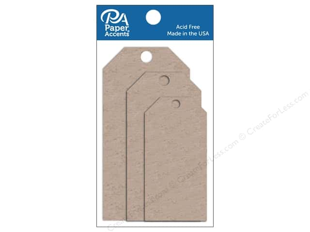 Paper Accents Craft Tags Assorted 5 pc. Chipboard