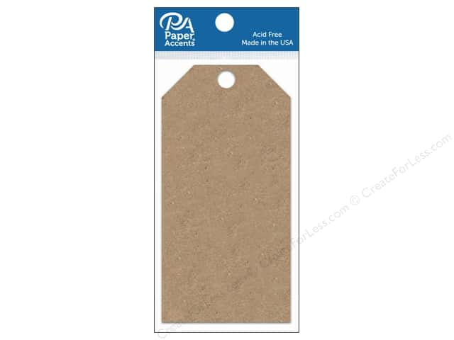 Paper Accents Craft Tags 2 1/2 x 5 1/4 in. 25 pc. Brown Bag