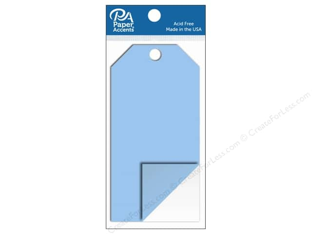 Paper Accents Craft Tags 2 1/2 x 5 1/4 in. 5 pc. Clear Plastic