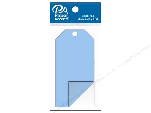 Paper Accents Craft Tags 2 1/8 x 4 1/4 in. 5 pc. Clear Plastic