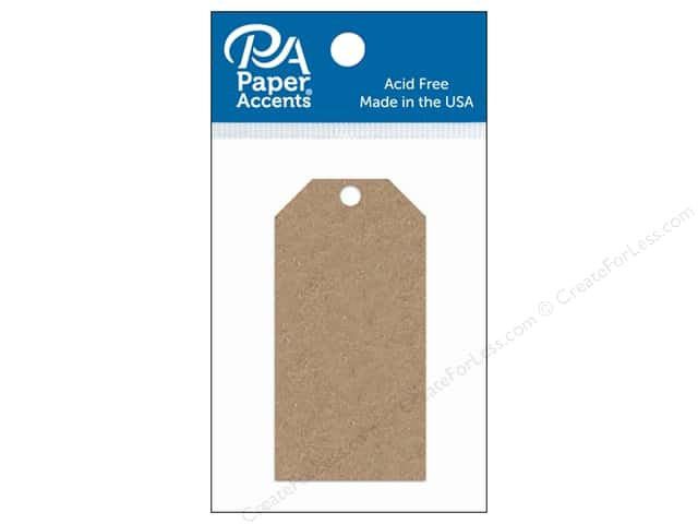 Paper Accents Craft Tags 1 5/8 x 3 1/4 in. 25 pc. Brown Bag