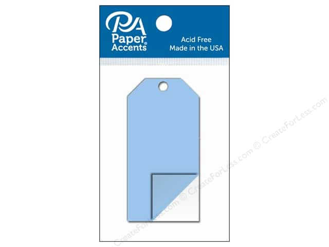Paper Accents Craft Tags 1 5/8 x 3 1/4 in. 5 pc. Clear Plastic