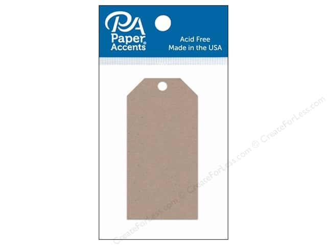 Paper Accents Craft Tags 1 5/8 x 3 1/4 in. 25 pc. Kraft