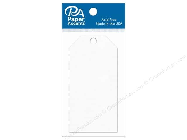 Paper Accents Craft Tags 2 1/8 x 4 1/4 in. 25 pc. White