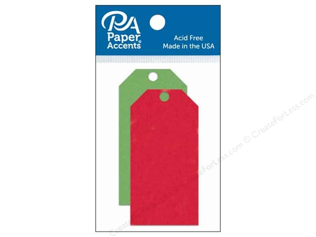 Paper Accents Craft Tags 1 5/8 x 3 1/4 in. 25 pc. Christmas