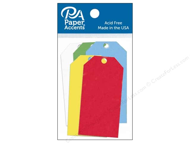 Paper Accents Craft Tags 1 5/8 x 3 1/4 in. 25 pc. Primary