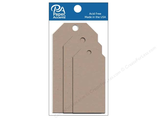 Paper Accents Craft Tags Assorted 25 pc. Kraft