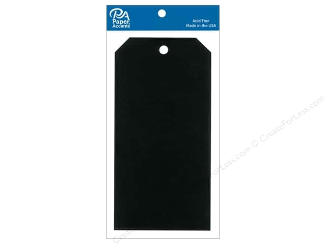 Paper Accents Craft Tags 3 1/8 x 6 1/4 in. 20 pc. Black