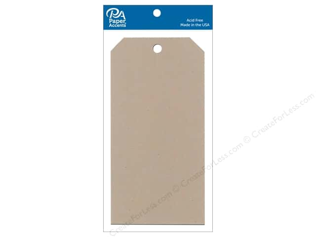 Paper Accents Craft Tags 3 1/8 x 6 1/4 in. 25 pc. Kraft