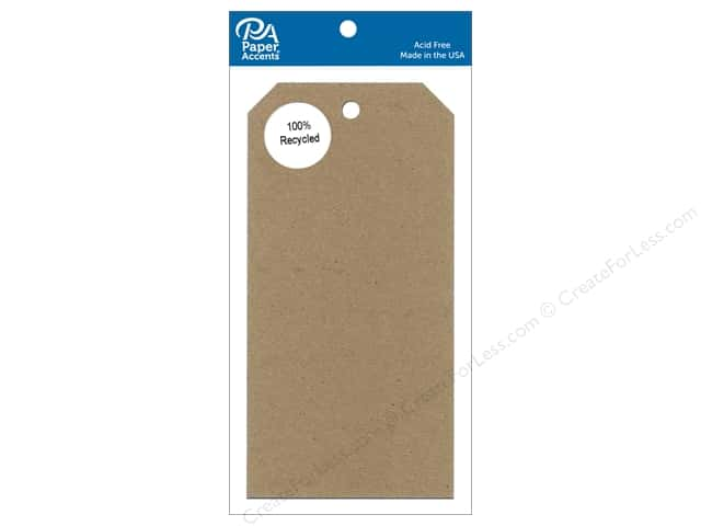 Paper Accents Craft Tags 3 1/8 x 6 1/4 in. 25 pc. Brown Bag