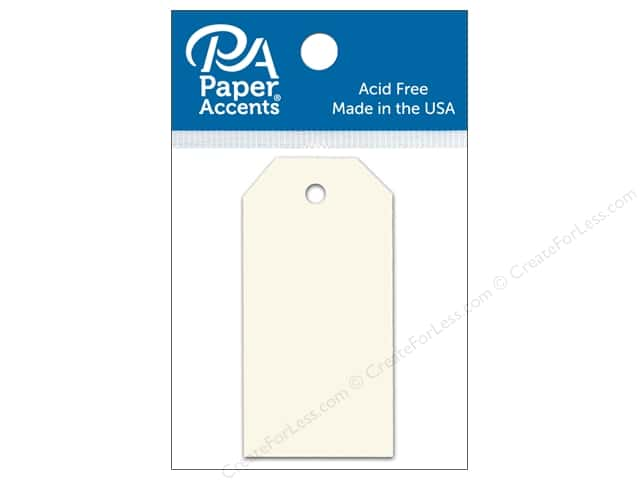 Paper Accents Craft Tags 1 1/4 x 2 1/2 in. 25 pc. Cream