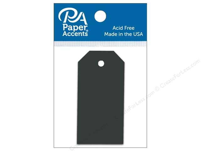 Paper Accents Craft Tags 1 1/4 x 2 1/2 in. 20 pc. Black