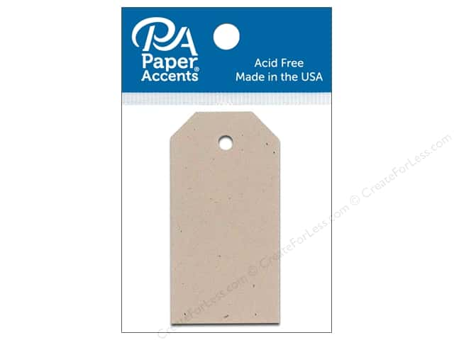 Paper Accents Craft Tags 1 1/4 x 2 1/2 in. 25 pc. Kraft