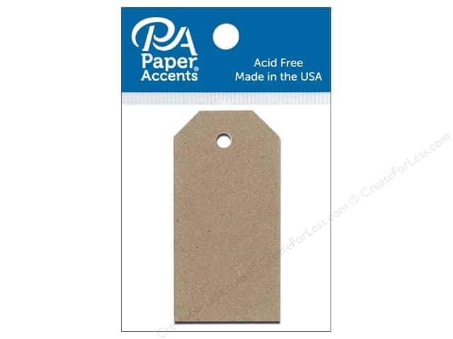 Paper Accents Craft Tags 1 1/4 x 2 1/2 in. 25 pc. Brown Bag